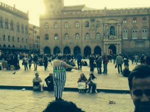 3) Have fun at the Piazzas, Bologna