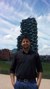 Posing with Bosco Verticale, Milan