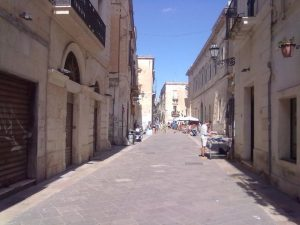 Streets in Lecce, Italy