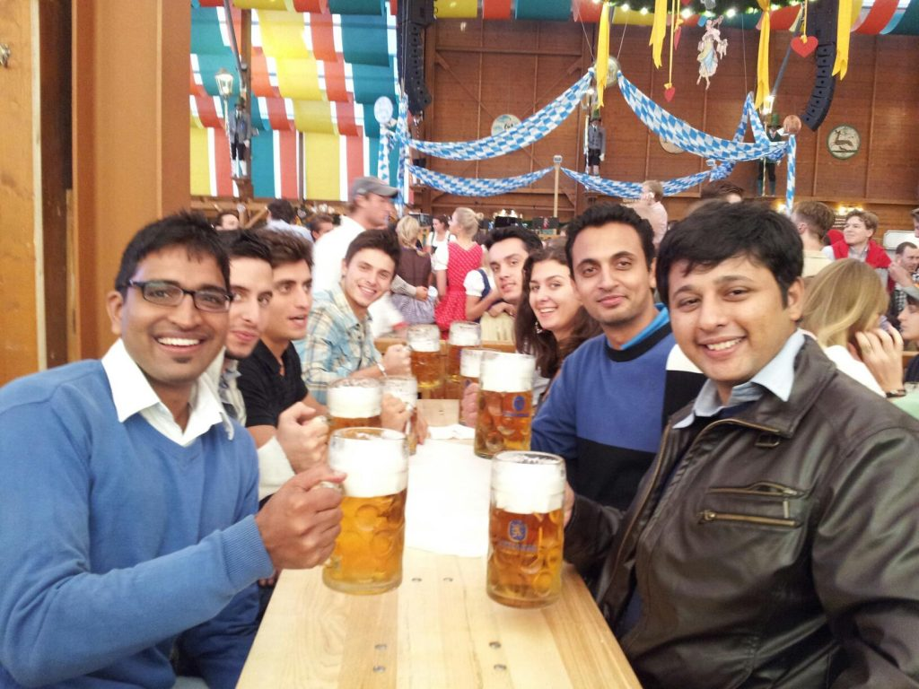Make friends in Oktoberfest, Munich Germany