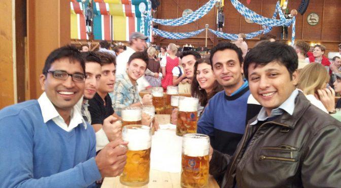 Make friends in Oktoberfest, Munich Germany