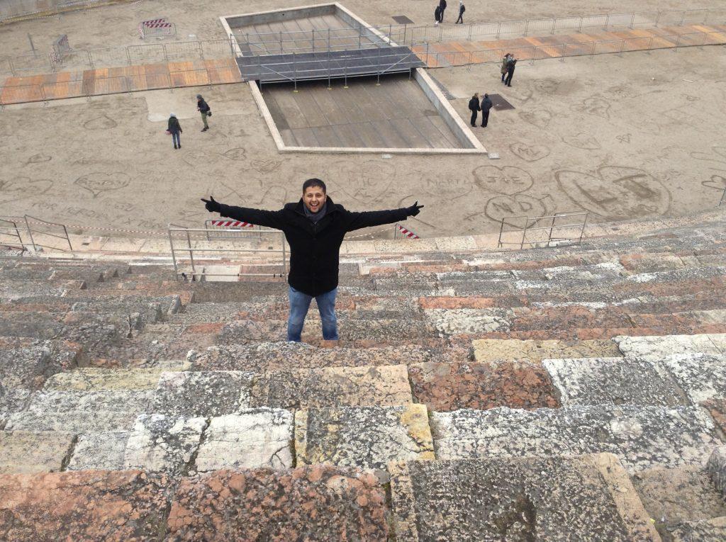 Valentine's day Verona, amphitheater