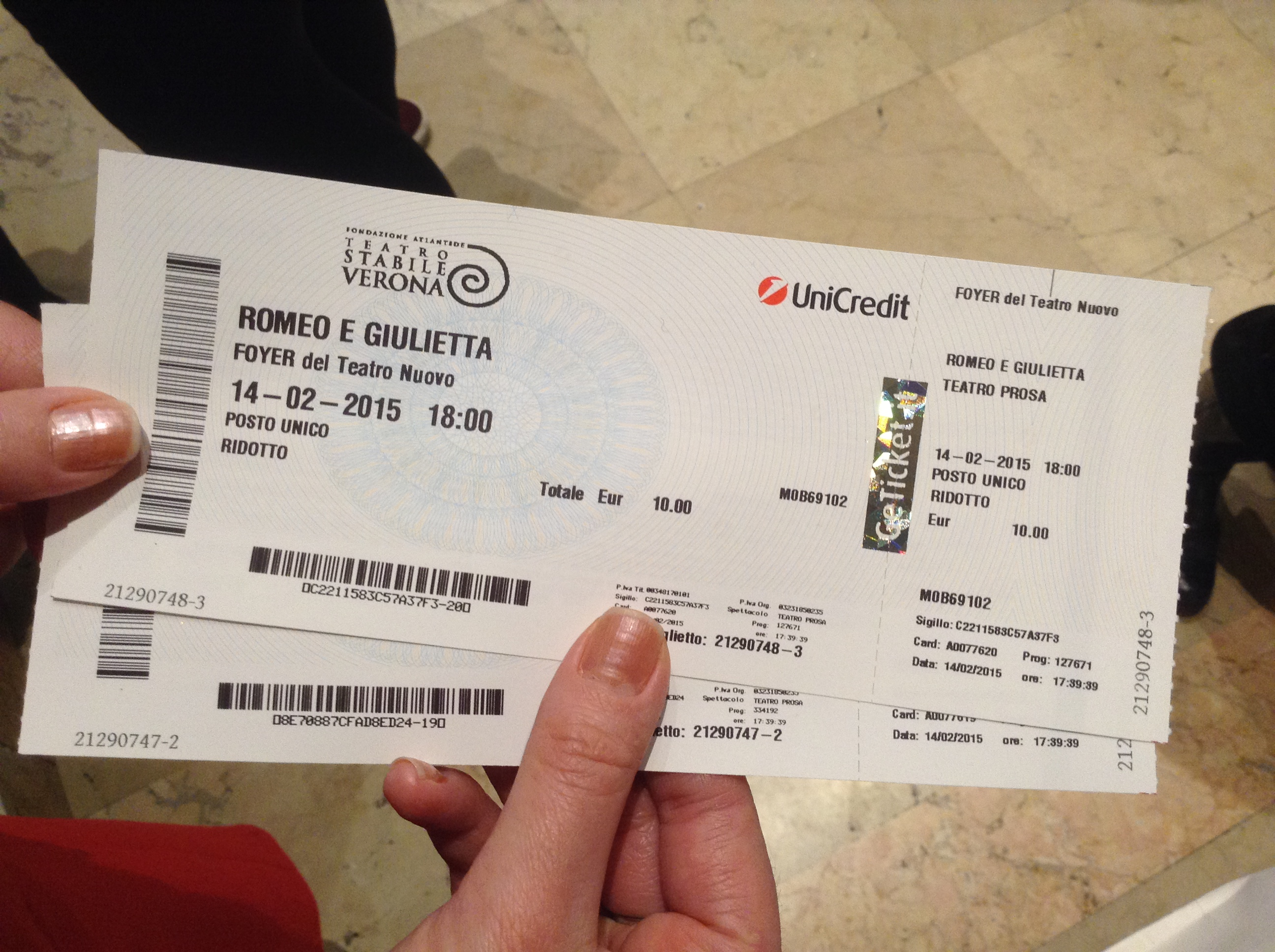 Tickets for Romeo & Juliet Theater, Verona