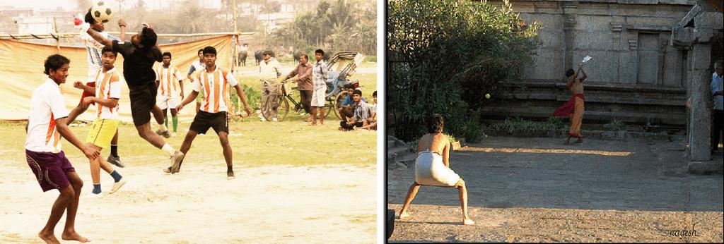 Cricket vs Football, milankaraja