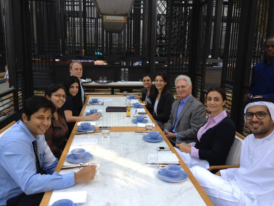 2012 New Year's Lunch with Dr. Saidi and the team from DIFC & Hawkamah