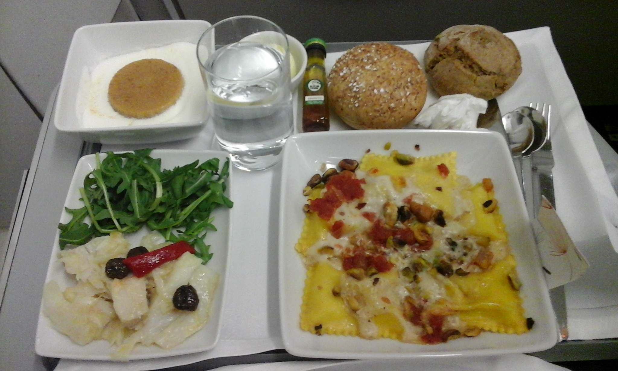 TAP Airlines Business class food. (Sea food based)