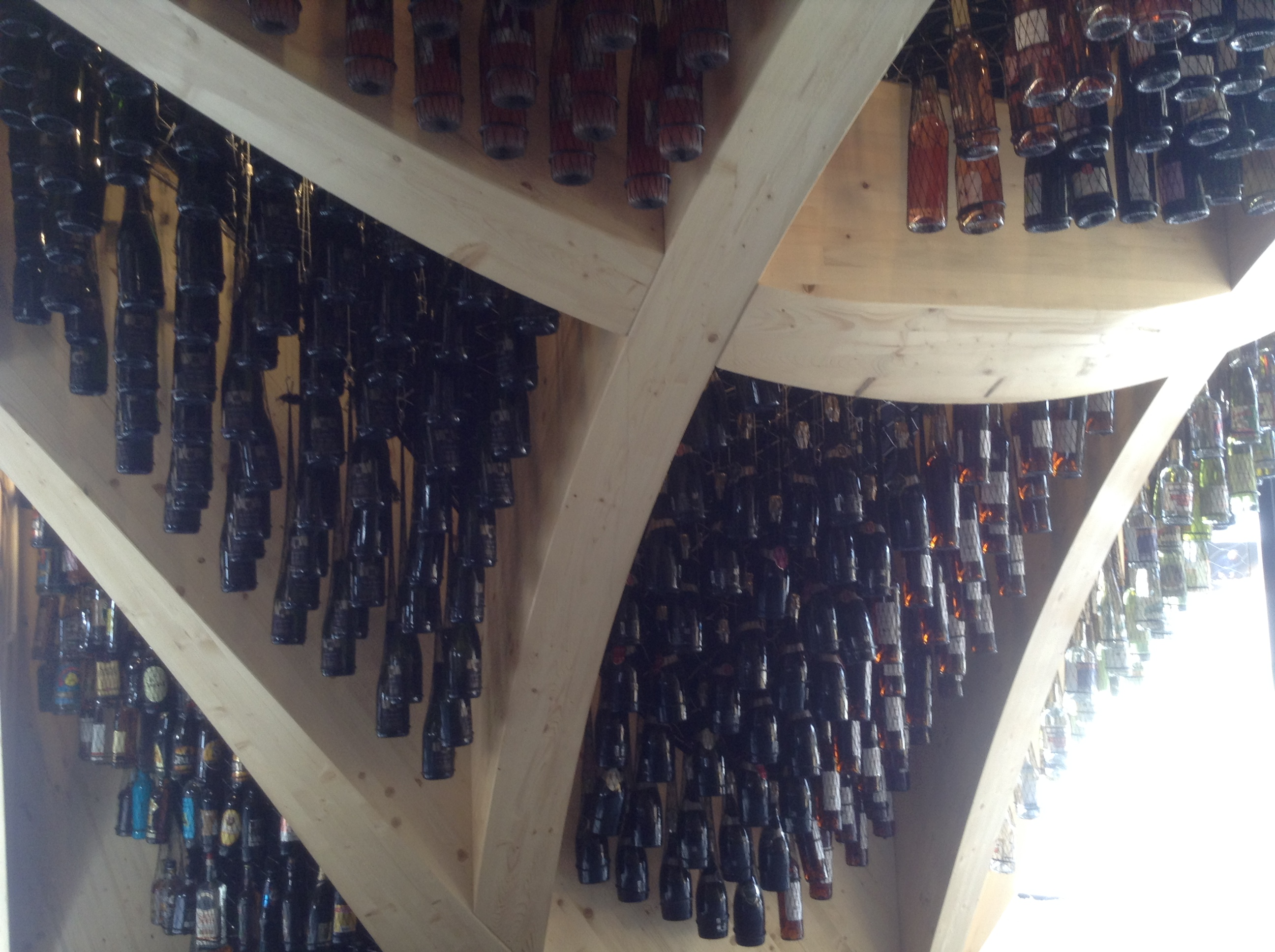 Wine storage in French pavilion, Milano Expo 2015, MilanKaRaja