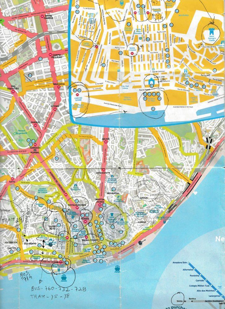 Lisobon, Portugal Map, Travel Blog