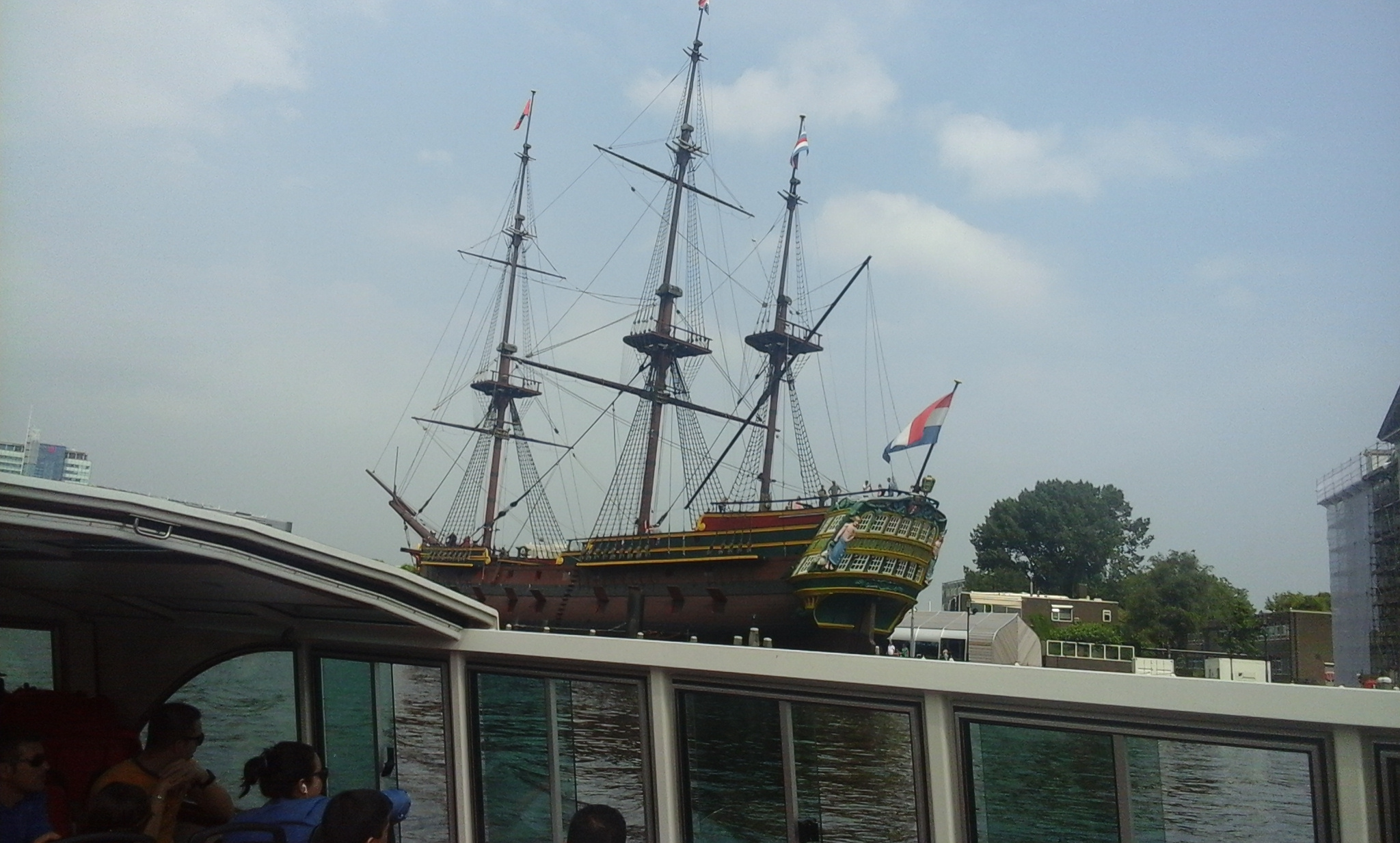 Sailing ship in Amsterdam