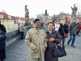 Charles Bridge, Prague, Indian Family Trip to Europe